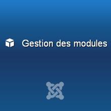 Gestion des modules dans Joomla 3
